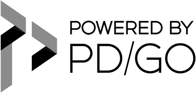 PD/GO Digital Marketing and Design Logo Black With Transparent Background